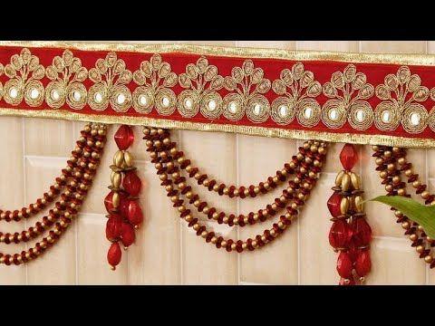 Amazing Toran Design Wall Hanging Toran Making Ideas 2018 Diwali Home Decoration Ideas Youtube In 2020 Diy Diwali Decorations Diwali Craft Wall Decor Crafts