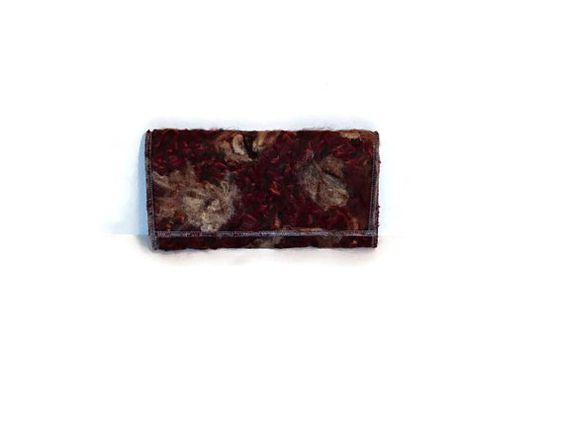 Gift Under 20 Nuno Felted Clutch Wallet Purse Felt by ModernArras