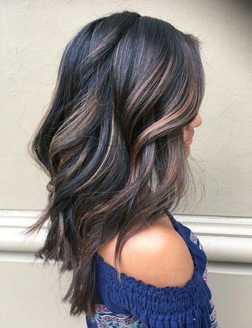 Balayage For Dark Hair Black Hair With Brown Balayage Highlights Best Balayage Hair Balayage For Dark Hair Hair Styles Hair Color Dark Balayage Hair Dark