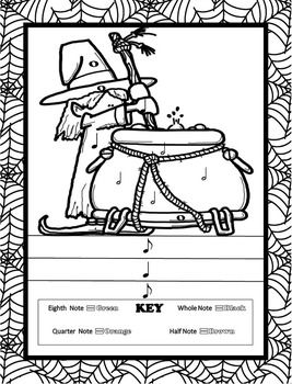Music Coloring Pages (Halloween)