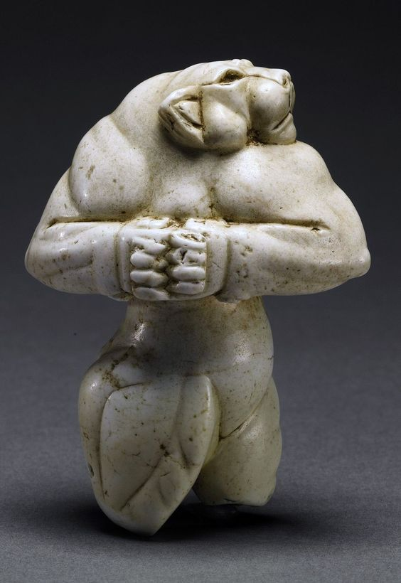 The Guennol Lioness is a 5,000-year-old Mesopotamian statue depicting an anthropomorphic lioness. The statue was found near Baghdad, Iraq and is on display in New York City's Brooklyn Museum of Art.: