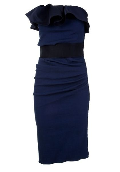 Lanvin Frill Pencil Dress