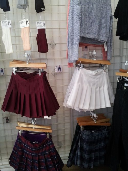 stella-starz: bimborules: gothicstripper: alanissux: What store is that? It looks like American Apparel. I need everything! Those skirts are awesome! Yes, American Apparel is correct. :D i'd love to go shopping at a store that has rows and rows of pretty skirts!http://amarriedsissy.blogspot.com/