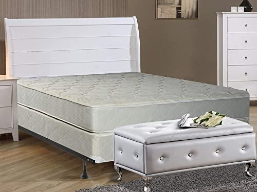 New Spinal Spring Gentle Firm Tight Innerspring Mattress And 8 Inch Wood Box Spring Foundation Set With Frame Twin Online Newtrendyfashion In 2020 Box Spring Bed Frame Mattress Innerspring Mattresses