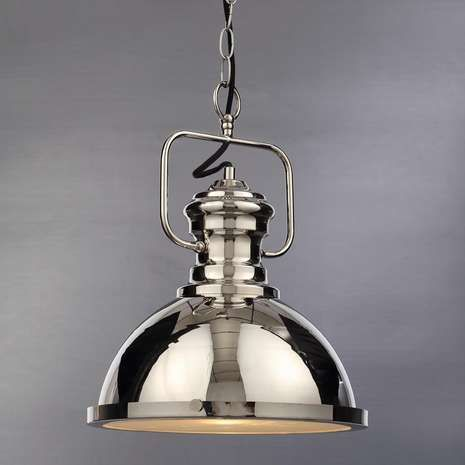Complete With A Chrome Finish And Stylish Chain Suspension This Markwell Ceiling Fitting Features A Large Domed H Nickel Lighting Light Fittings Ceiling Lights