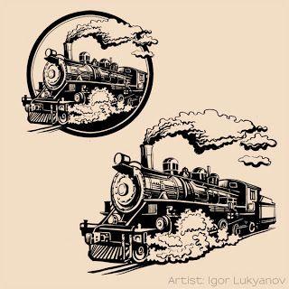 vintage train locomotive vintage pinterest vintage drawings and trains. Black Bedroom Furniture Sets. Home Design Ideas