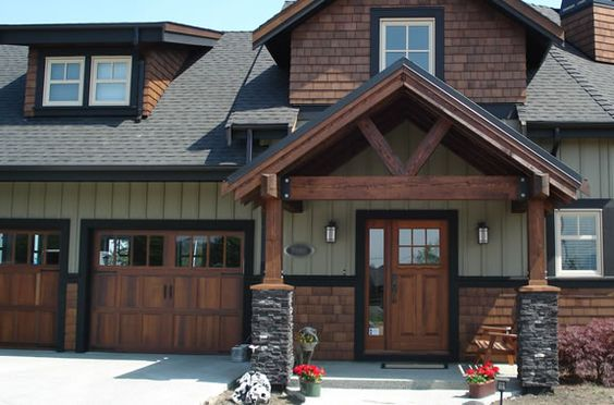 Exterior stained wood accent google search exterior for Exterior house accents