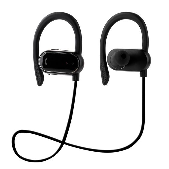 KAYSN Bluetooth Headphones, Wireless In Ear Earbuds Sweat-proof Earphones with Ear Hooks for Sports Running Driving (black). Three functions: Push the button can calculate the number of running miles and the number of running steps and burning calories wh
