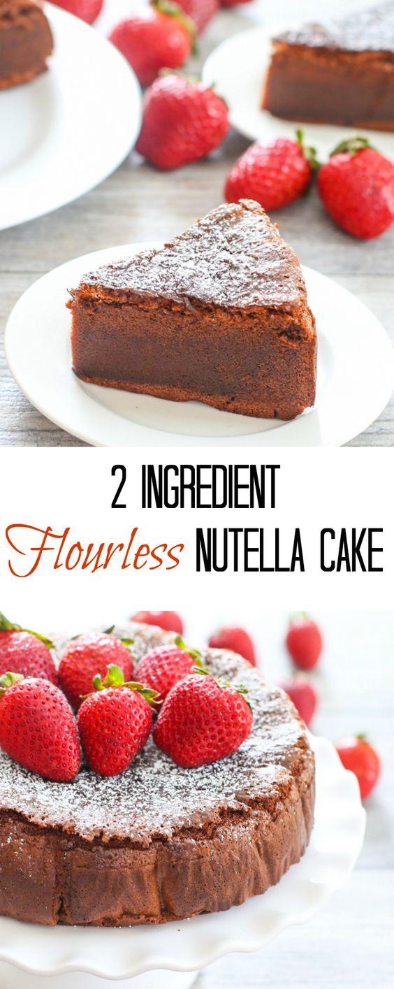 Nutella Flourless Mug Cake