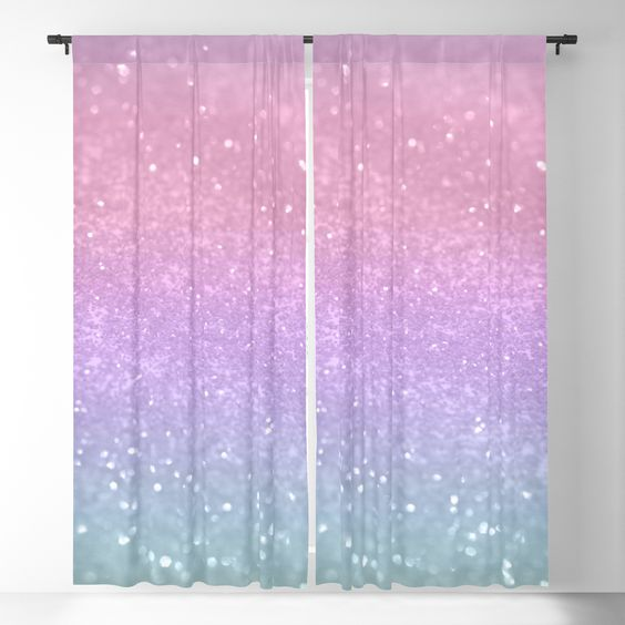 Unicorn Princess Glitter #1 (Photography) Pastel Decor Art Society6 Blackout Window Curtains by anitabellajantz