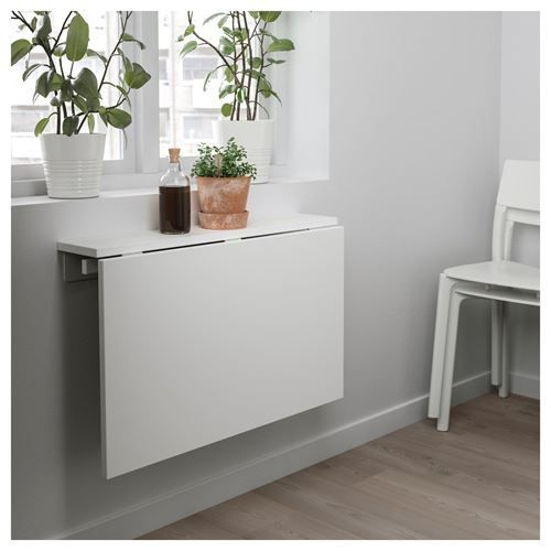 75x60 Beyaz Duvara Ikea Masa Monte Norberg Odalari Yemek