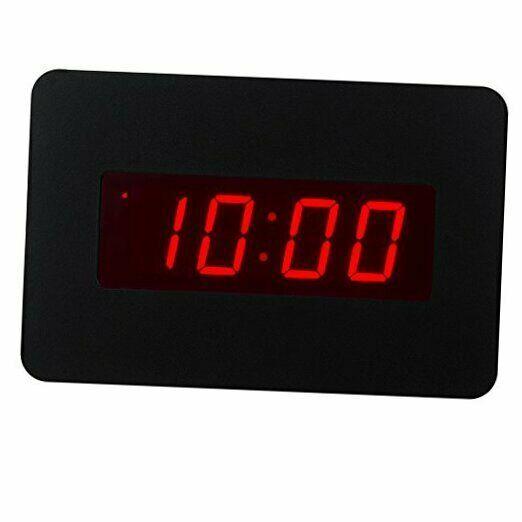 Icker 13 8 Jumbo Lcd Digital Alarm Clock Battery Operated Large Wall Clock Displays Temperature And Calend Alarm Clock Wall Clock Display Digital Alarm Clock