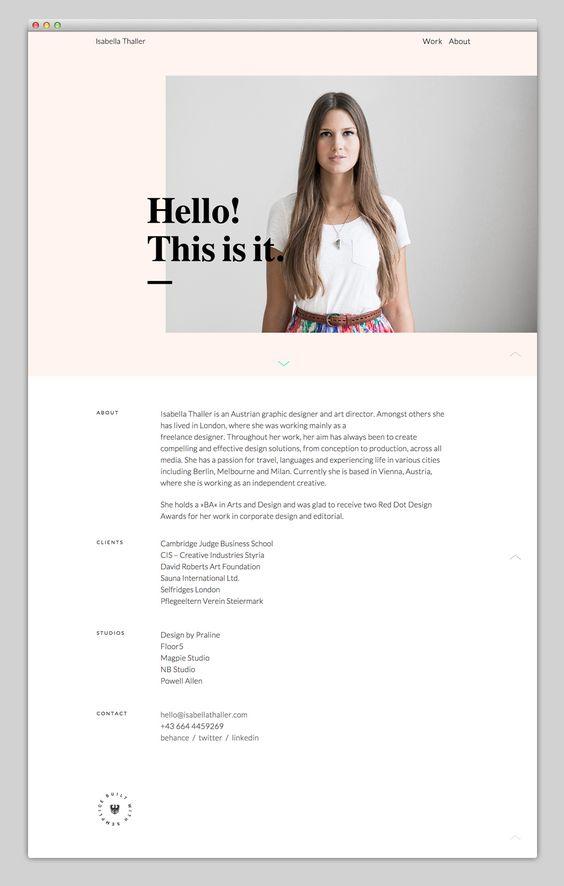 Isabella Thaller – built with Semplice More Webdesign A showcase of effective and beautiful web design – www.mindsparklemag.com , Design, agency, portfolio, websites, webdesign, designer, colorful, colors, web, responsive, minimal, presentation, beauty, m