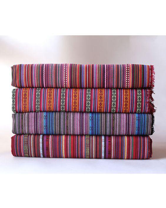 Aztec tissu Native tissu Tribal tissu ethnique tissu BOHO Bohemian Style nappe tissu main tissé tissu d