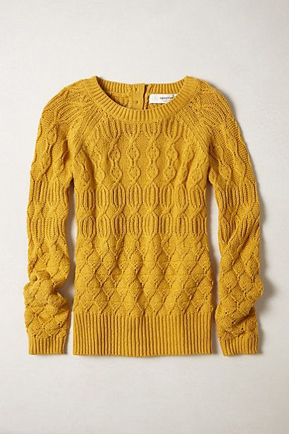 Cable-Fuse Pullover #anthropologie: