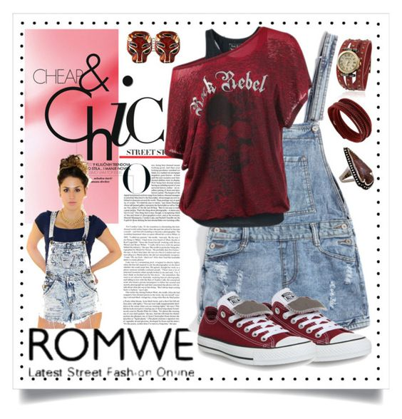 """CHEAP & CHI BY ROMWE"" by purplerose27 ❤ liked on Polyvore featuring Converse, Swarovski, Pamela Love, Ciner and Bling Jewelry"