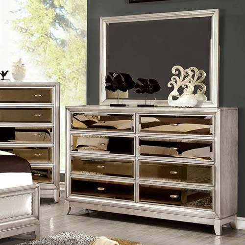 Best Mirrored Dressers On Trend For 2020 Candie Anderson Dresser With Mirror Contemporary Dresser Mirrored Bedroom Furniture