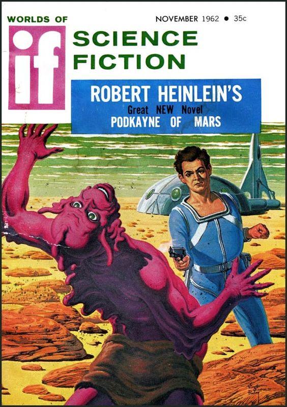 """Une sélection de couvertures rétro de la science-fiction des années 50 – 60, issues du magazine américain de science-fiction de l'époque, """"IF Science Fiction"""" #retro #PapyJack"""