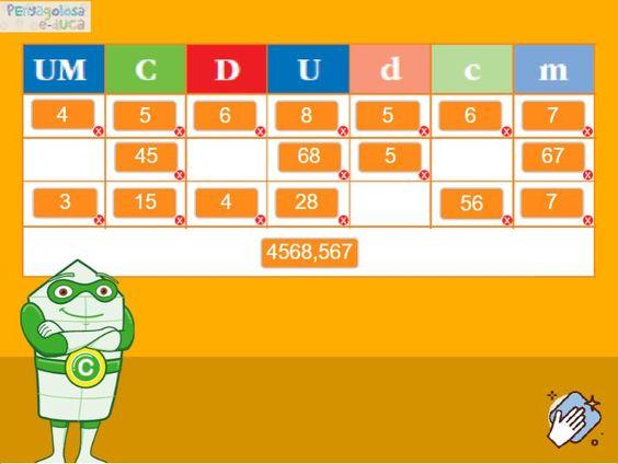 Descomponer decimales