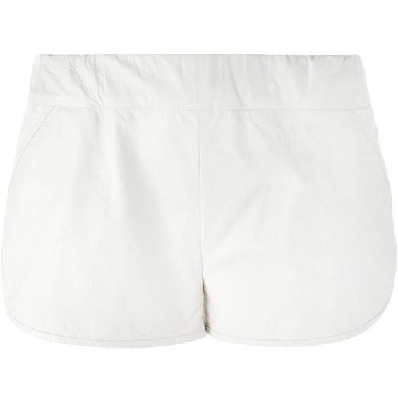 Drome Leather Shorts (9,555 MXN) ❤ liked on Polyvore featuring ...