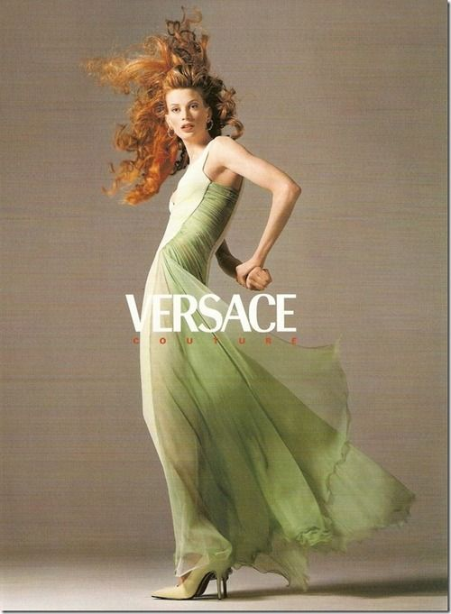 Kristen McMenamy  Versace, Fall 1995  Photos by Richard Avedon