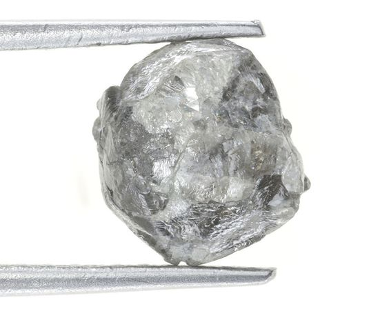NATURAL ROUGH MIXED AFRICAN DIAMOND LOT 4.54 CARAT SILVER GRAY COLOR