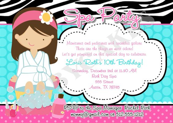 end of school year spa party/sleepover | Pinterest | Sleepover party ...