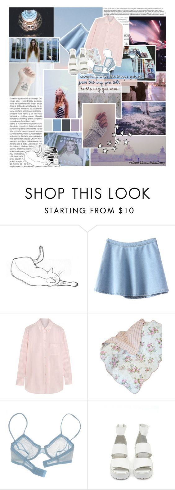 """""""Ina ( #clems4kmusichallenge - day 4 )"""" by end-of-the-day ❤ liked on Polyvore featuring Hansen, Seed Design, Equipment, La Perla and Nasty Gal"""