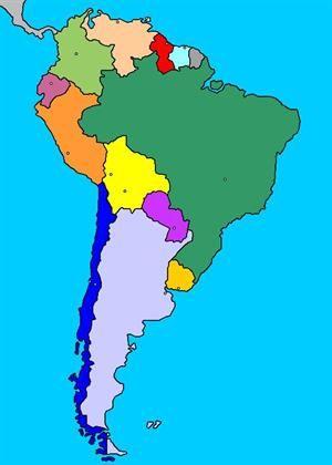 Mapa interactivo de América del Sur: países y capitales (luventicus.org)