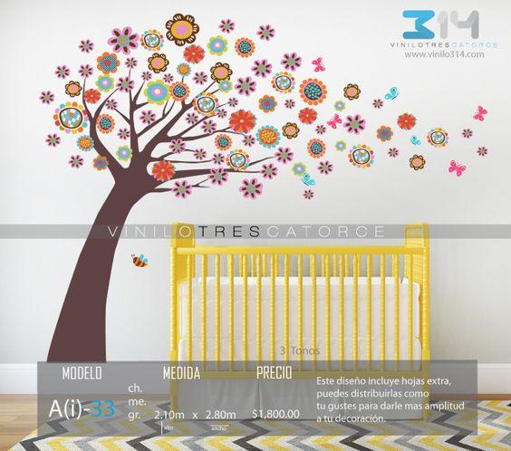 Vinilos decorativos rboles infantiles sticker decorativo for Arboles de decoracion