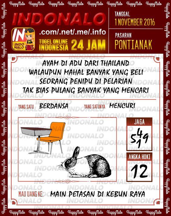 Lotre 3D Togel Wap Online Live Draw 4D Indonalo Pontianak 1 November 2016
