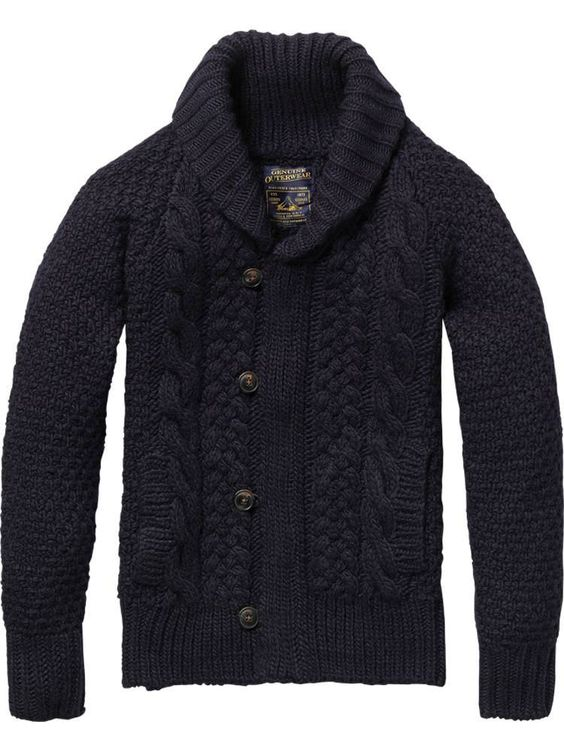 Heavy cable,knit, shawl,collar cardigan