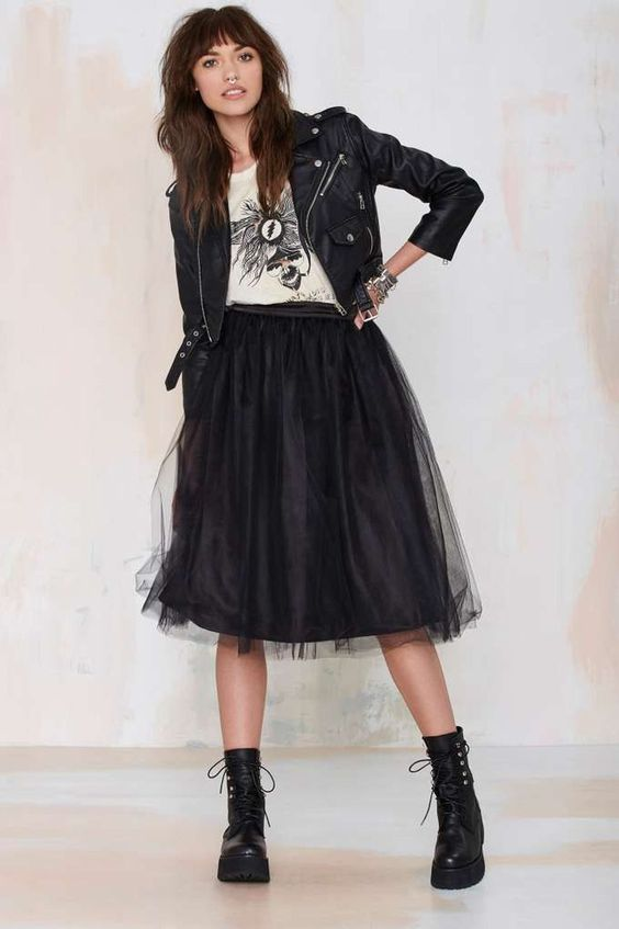 Cool 45 Amazing Outfits Ideas That Show Rock A Tulle Skirt