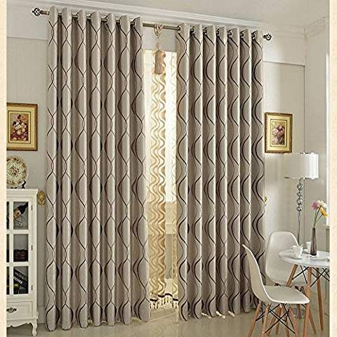 D Geometric Window Curtain, 100 Inch Wide Curtains