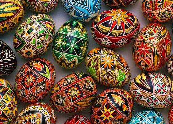26 Ukrainian Easter eggs from different regions of Ukraine