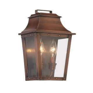 Acclaim Lighting 8423cp Copper Patina Coventry 2 Light Outdoor Wall Sconce With Clear Glass Outdoor Wall Lantern Outdoor Wall Mounted Lighting Acclaim Lighting