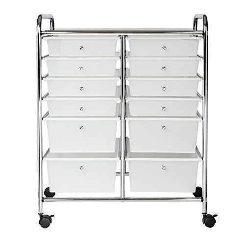 Storage Containers With Wheels Plastic 12 Drawer Metal Frame Dorm Home Office Honeycando Casas