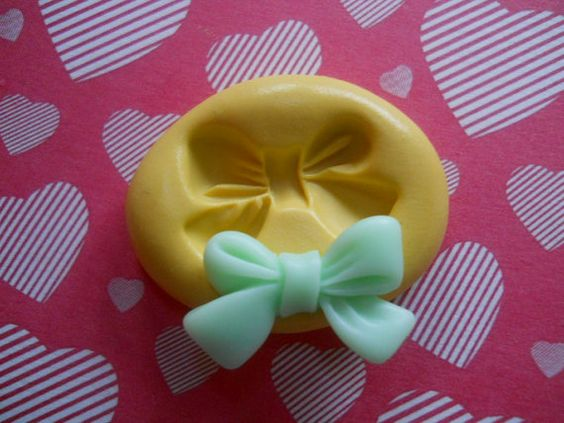 Kawaii Pretty Bow Flexible Mold Great For Butter by bakerydelights, $5.35