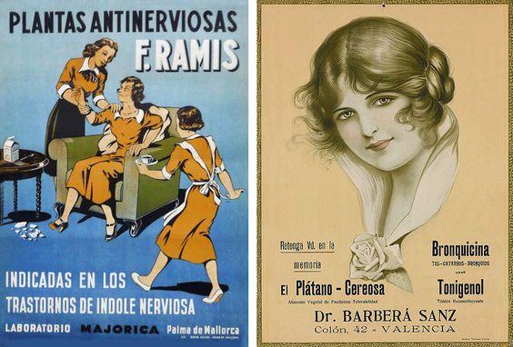 Planta para calmar los nervios del Dr. Ramis y Farmacia Dr. Barberá, años 40