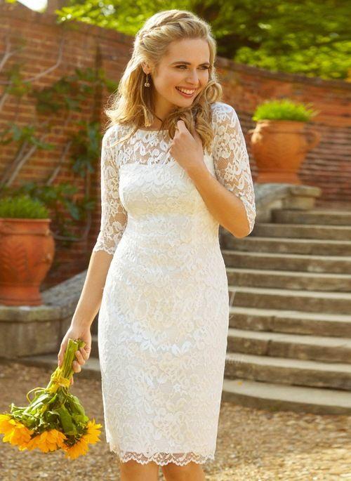 Robe de mariée dentelle vintage avec manche courte
