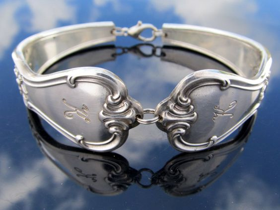 Spoon Bracelet Large Signature With K Monogram by dankartistry
