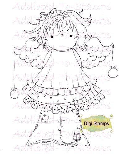 Bring Joy Angel Digi Doodle Download U Color by Digidoodlestampart, $3.00