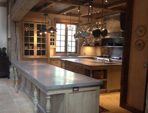 Custom Kitchens Zinc Countertops And Sinks On Pinterest