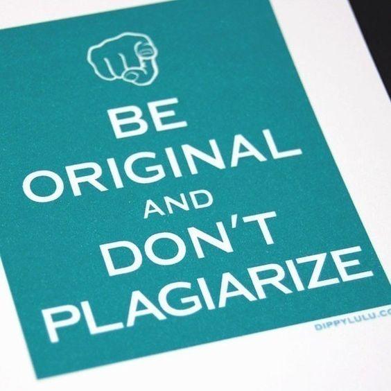 Fun way to remind students not to plagiarize