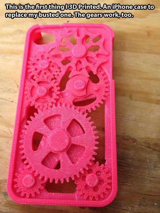 This iPhone case was 3d printed... So cool! (This is not my work)