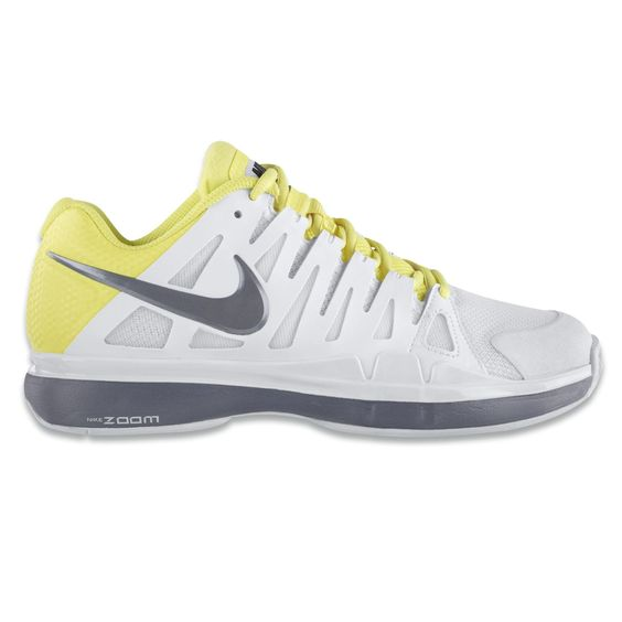 Love the colors: Nike-Zoom-Vapor-9-Tour-white/cool-grey-electric-yellow.html  Nike Zoom Vapor 9 Tour. #tennis #clay #shoes #style