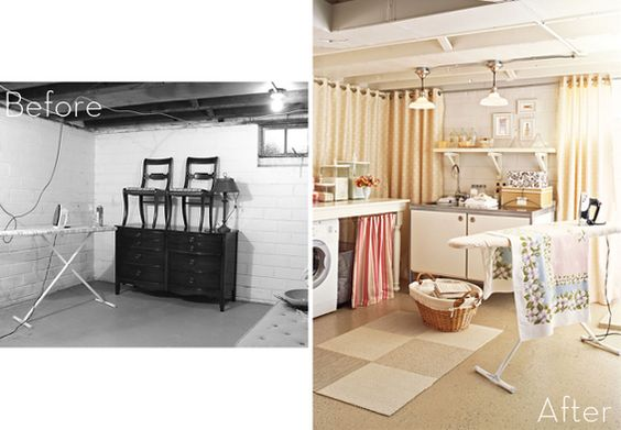 Basement laundry space make over laundry room ideas for Basement mudroom ideas