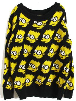 Suéter suelto estampado Simpson-Amarillo EUR€25.64