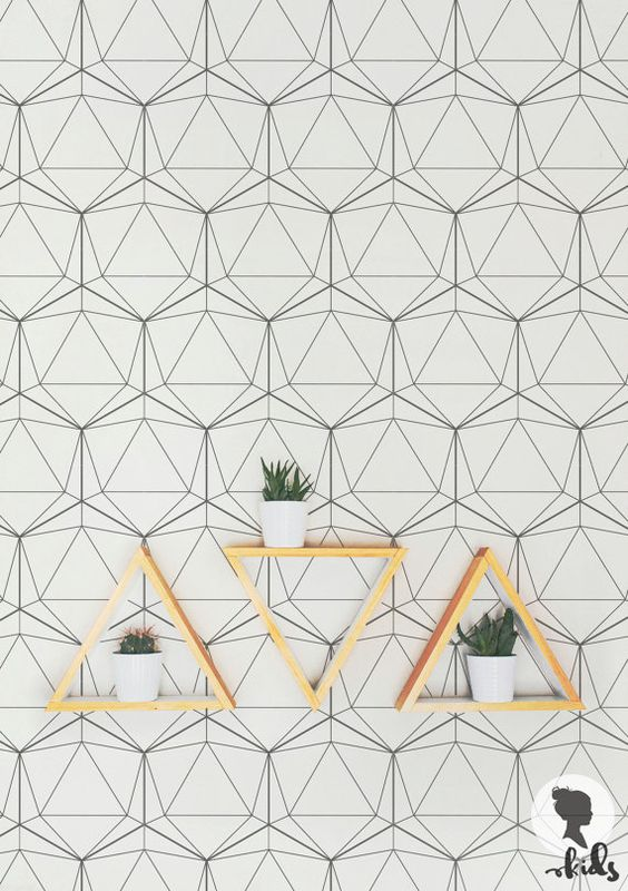 geometric wallpaper traditional or removable wallpaper