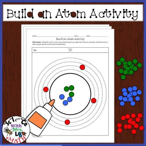 free build an atom activity students use colored circles made from a hole puncher punched. Black Bedroom Furniture Sets. Home Design Ideas